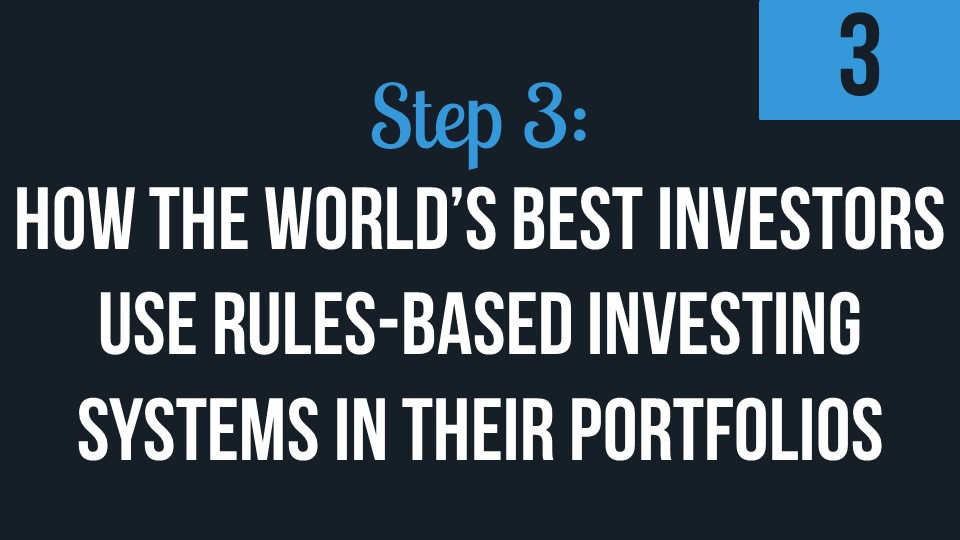 How The World's Best Investors Use Rules-Based Investing Systems In Their Portfolios
